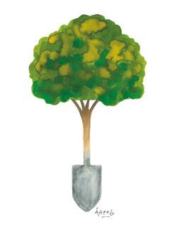 Tackträdet, designat av Lasse Åberg